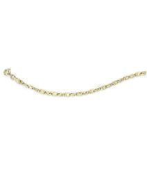 9 Carat Gold Oval Flat Link Bracelet