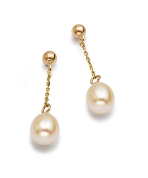 9 Carat Gold Freshwater Pearl Earrings