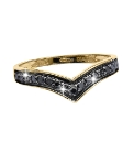 9 Carat Gold Black Diamond Ring