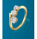 9ct Gold 1/4 Carat Diamond Trilogy Ring