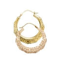 Evoke 9 Carat Gold Crystal-Set Earrings