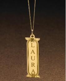 9 Carat Gold Cartouche-Style Pendant