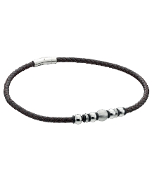 Fred Bennett Leather Necklace with Beads