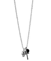 Fred Bennett Skull, Cross & Bead Pendant