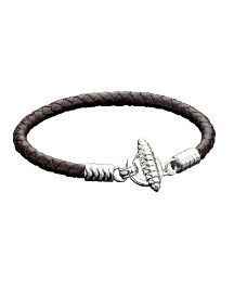 Fred Bennett Leather T-Bar Bracelet