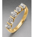 9 Carat Gold 1Ct Half Eternity Ring