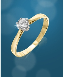 9ct Gold 1/4ct Diamond Solitaire Ring