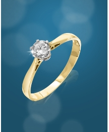 9ct Gold 1/2ct Diamond Solitaire Ring