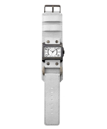 Kahuna Gents White Strap Cuff Watch