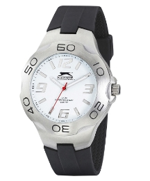 Slazenger Gents Black Strap Watch
