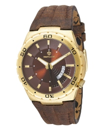 Henleys Gents Brown Strap Watch