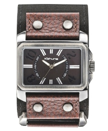 Kahuna Gents Brown Strap Cuff Watch