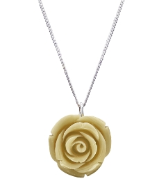 Sterling Silver Rose-Shaped Pendant