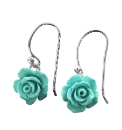 Sterling Silver Rose-Shaped Earrings