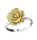 Sterling Silver Rose-Shaped Ring