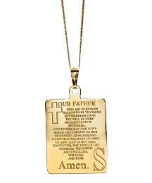 9ct Gold Lords Prayer Pendant
