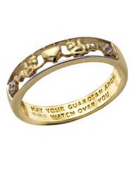 9 Carat Gold Guardian Angel Ring