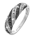 9ct White Gold Diamond-Set Ring