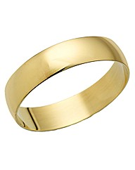 Gents 9ct Gold Light Weight Wedding Band