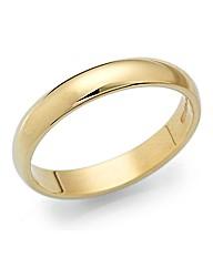 9 Carat Gold Medium Weight Wedding Band