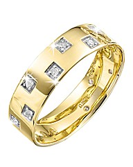 9 Carat Gold Diamond-Set Wedding Band
