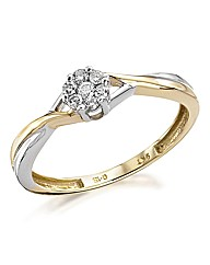 9 Carat White & Yellow Gold Ring