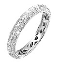 9ct White Gold 3/4ct Eternity Ring
