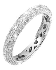 9 Carat White Gold 3/4ct Eternity Ring