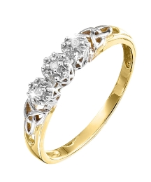 9 Carat Gold Diamond-Set Ring