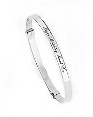 Sterling Silver Personalised Bangle