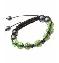 Green Crystal Bead Cord Bracelet