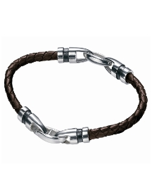 Fred Bennett Plaited Leather Bracelet