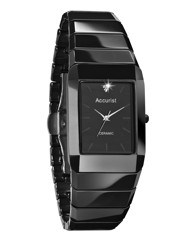 Accurist Gents Ceramic Diamond-Set Watch