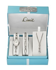 Limit Silver-tone Personalised Watch Set