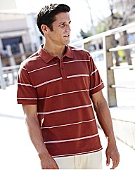 Short Sleeve Stripe Polo Shirt Long