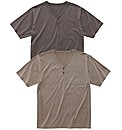 Premier Man Pack of 2 Y-Neck T-Shirt