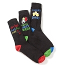 Pack of Three Novelty Dad Socks