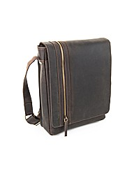 Zip Front Messenger Bag