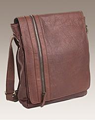 Zip Front Messenger Bag