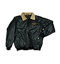 Grey Hawk PU Aviator Jacket
