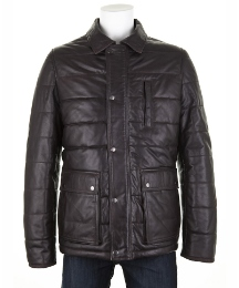 Woodland Leather Puffa Coat