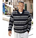 Premier Man Button Neck Sweatshirt