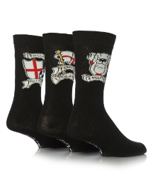 Mens Pack of 6 England Socks