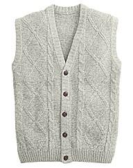 Premier Man Aran Button Waistcoat