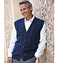 Premier Man Aran Button Waistcoat
