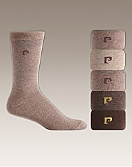 Pierre Cardin Pk 5 Plain Socks