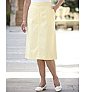 Pull On Brushed Cotton Skirt Length 25in