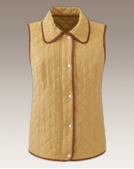 Padded Gilet with Contrast Trim