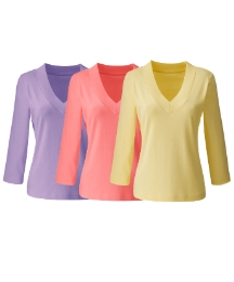 Pack of 3 V-Neck Tops