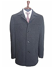 John Braye Platinum Wool Overcoat